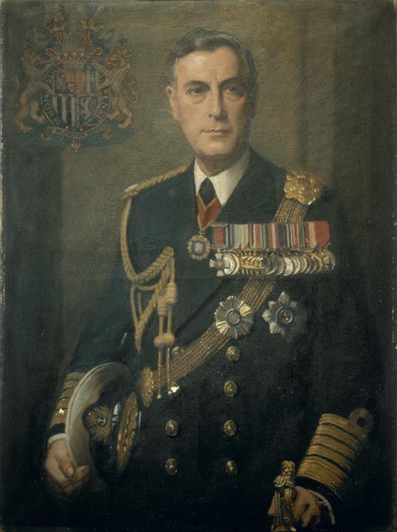 Louis Mountbatten, Earl Mountbatten of Burma (1900-1979) Admiral of the Fleet and Viceroy of India, by Frank Owen Salisbury.