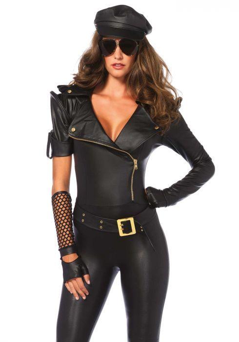 Carnavalskleding Dames Politie.Leg Avenue Easy Rider Politie Catsuit In Een Geweldig Mooie
