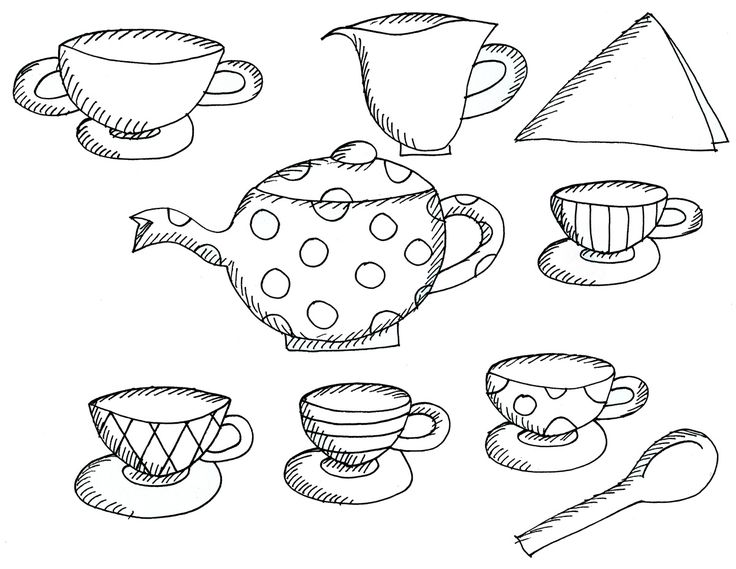 89 best preschool fun alice in wonderland themed art show for Alice in wonderland tea party coloring pages