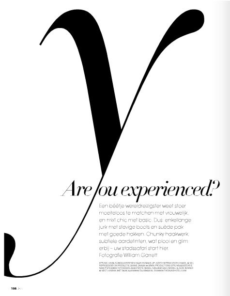Typography in JAN magazine, the Netherlands