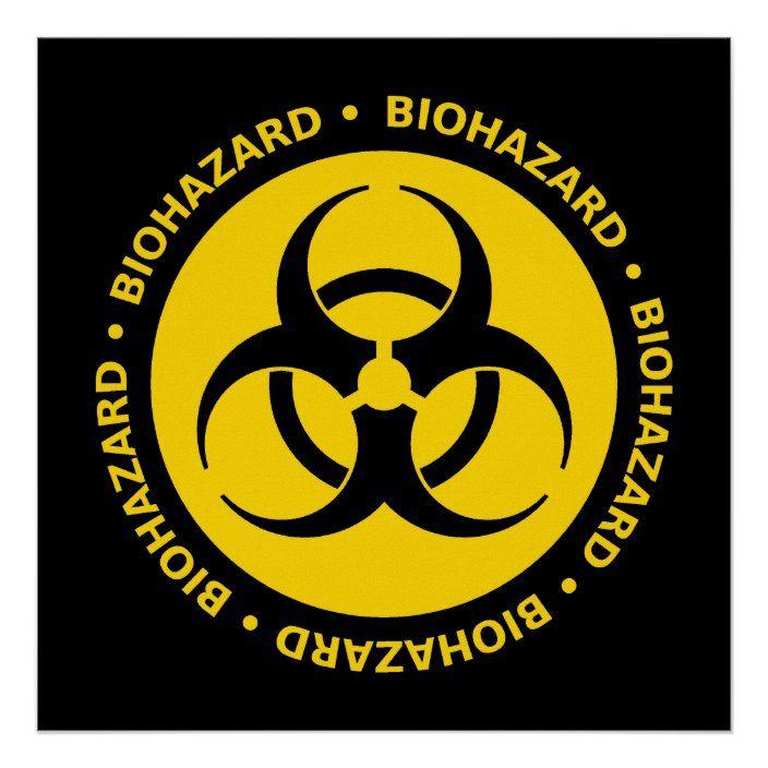 Yellow Biohazard Symbol Poster Zazzle Com Biohazard Symbol Biohazard Symbol Design