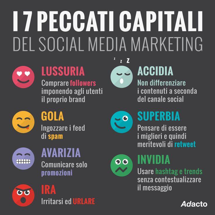 Conoscete i 7 peccati capitali del Social Media Marketing ...