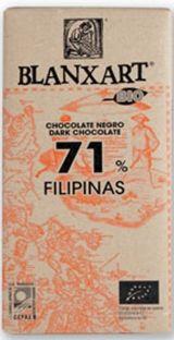 Blanxart 125g. Ciocolata organica neagra 71% cacao Filipine. BIO