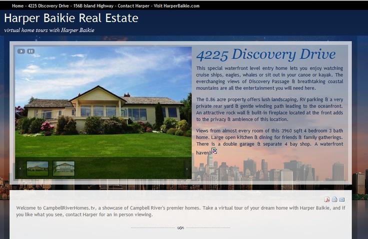 Website built for Campbell River real estate agent Harper Baikie.