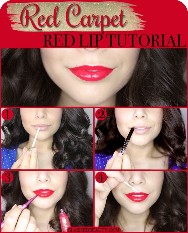 Red Carpet Worthy Red Lipstick Tutorial | Slashed Beauty #BeautyQtips #CleverGirls