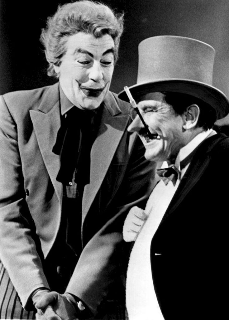 "Cesar Romero and Burgess Meredith - ""Batman"" - 1967."