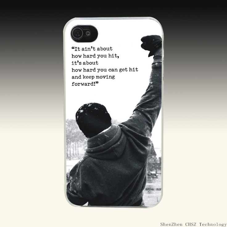 995O Rocky Balboa Motivational Words Hard Clear Case Transparent Cover for iPhone 4 4s 5 5s SE 6 6s 7 Plus