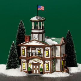 """Department 56: Products - """"Woodbridge Town Hall"""""""