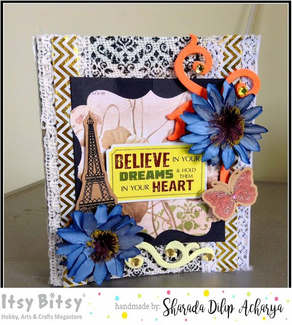 HappyMomentzz crafting by Sharada Dilip: Cereal box journal cover with Classy Chic burlap s...