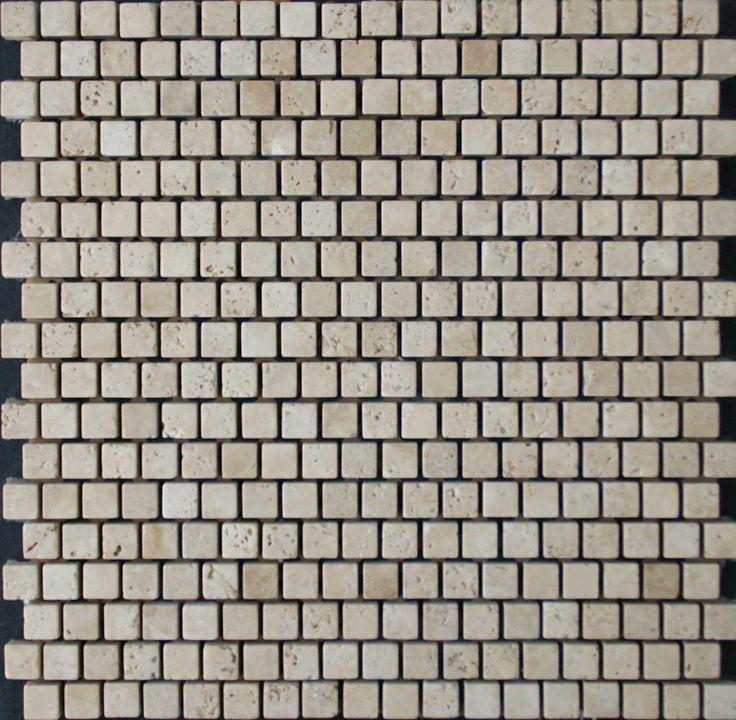 Mozaika marmurowa -  Kolekcja: Tetra 15SF; Kod: T1511; Wykończenie: ANTICO; Materiał: Rosso Assiago; Wym. Kostki: 1,5x1,5 cm; Wym. Plastra: 31,3x31,3 cm