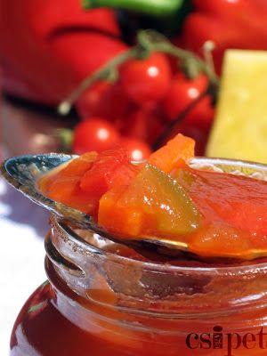egycsipet: Édes-savanyú mártás ropogós zöldségekkel - télre (...