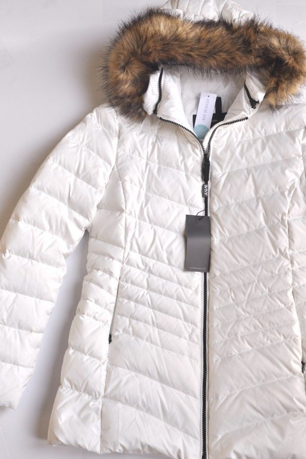 Andrew Marc Removable Fur Hood Quilted Puffer Coat