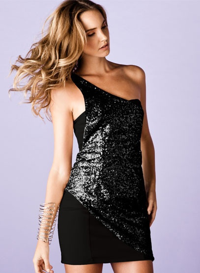 Love the one shoulder and sequin detail on Kuku at first sight dress