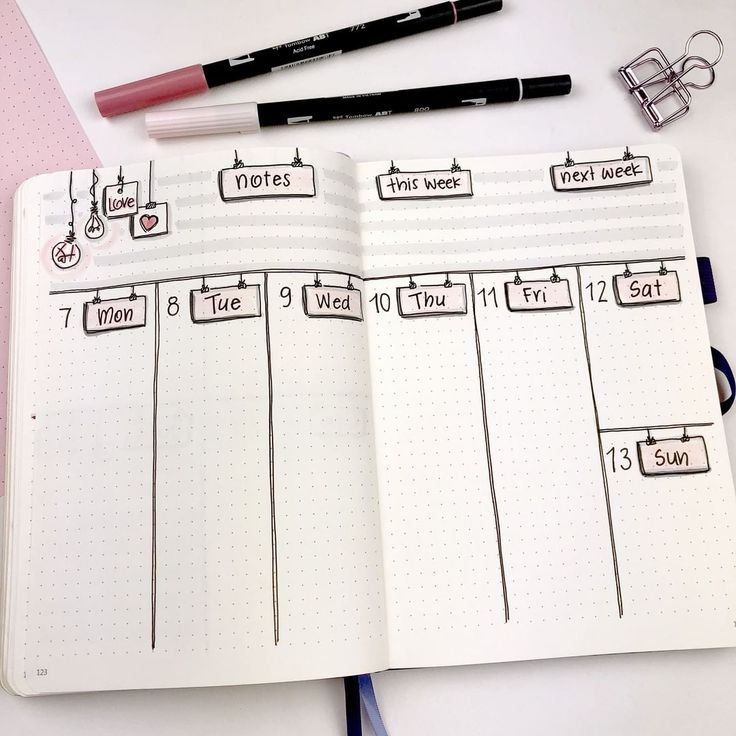 21 Bullet Journal Weekly Spreads Worth Copying