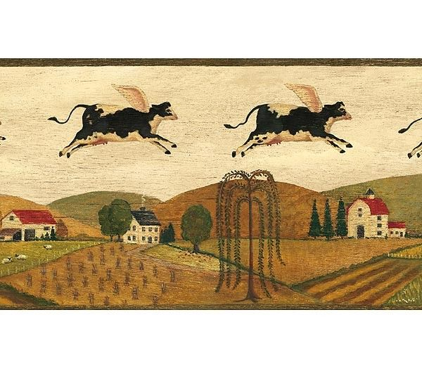 For Momu0027s Kitchen :) :) Interior Place   Black Country Cows Wallpaper  Border,