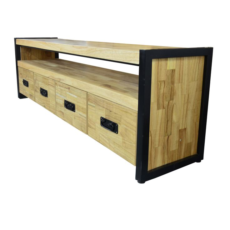 TV Console - Industrial 180. Industrial inspired TV Console.