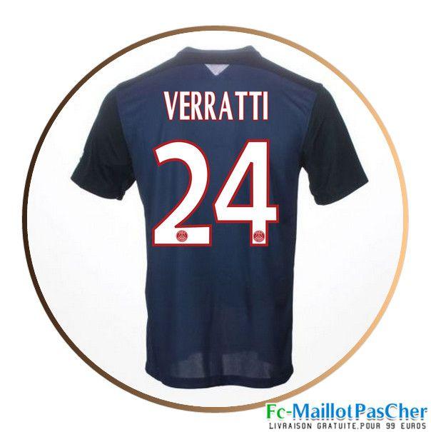 Maillot du Paris PSG Bleu VERRATTI 24 Domicile 15 2016 2017