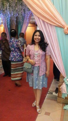 Kebaya kutubaru with jumputan skirt, made by my own mom