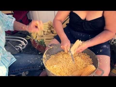 Tamales de maíz hechos en casa