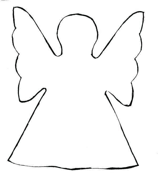 Angel Stencils Printable Template Templates Printable Free Christmas Tree Angel Christmas Templates