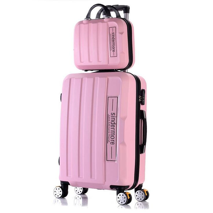"Fashion 2PCS/SETS rolling luggage set 14""cosmetic bag+20""24""28"" suitcase carry on travel luggage sale children's girls suitcases //Price: $94.55 & FREE Shipping //     #hashtag3"
