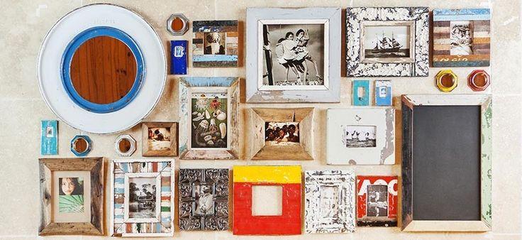 Cadres photos en métal recyclés ou en bois de récupération en SOLDES sur www.kabambi.com !!