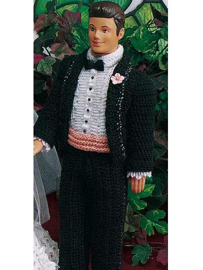 Tuxedo for fashion doll - free pattern im thinking ...