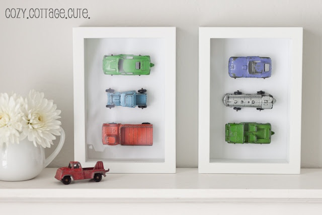 shadow box frames, super glue or epoxy small model cars or anything really onto paper to frame inside
