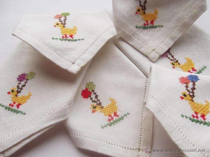 Image gallery servilletas bordadas - Manteles de punto de cruz ...