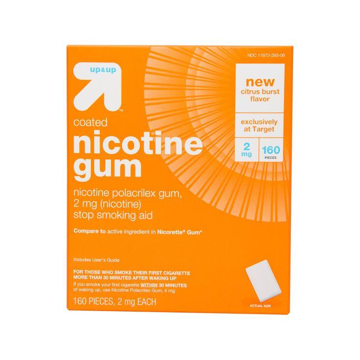 Coated Nicotine 2mg Gum Stop Smoking Aid - Citrus Burst - (Compare to Nicorette Gum) - 160ct - up & up