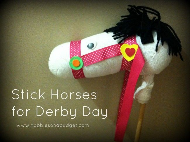 Stick Horses for @Kentucky Derby!  This is a fun idea for all those Horse lovers!  Hobbies On A Budget