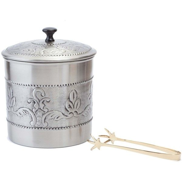Old Dutch Antique Embossed 'Victoria' 3-quart Ice Bucket with Liner... ($47) ❤ liked on Polyvore featuring home, kitchen & dining, bar tools, silver, antique ice tongs, antique bar tools, ice bucket, ice-buckets and antique champagne bucket