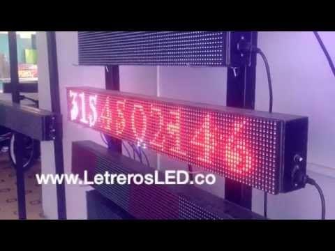 Letrero LED 16x128cm, Tri-Color RW [Rojo, Blanco, Rosado]. Tipo Exterior. - Letreros LED, Avisos LED, Pantallas LED Programables. Colombia - www.LetrerosLED.co