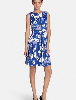 Tahari Sequin Floral Print Fit & Flare Dress (Regular & Petite). More Info : http://shoppingshoph.com/shop-details/tahari-sequin-floral-print-fit-amp-flare-dress-regular-amp-petite-1435614333036570200