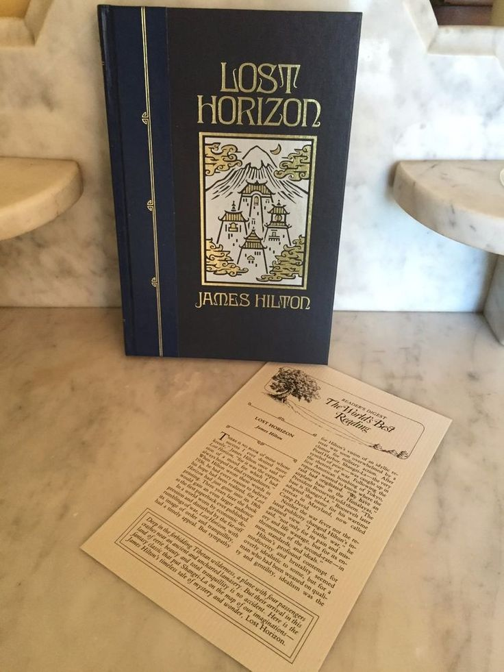 LOST HORIZON BY JAMES HILTON 1990 Hardcover READER'S DIGEST WORLD'S BEST READING