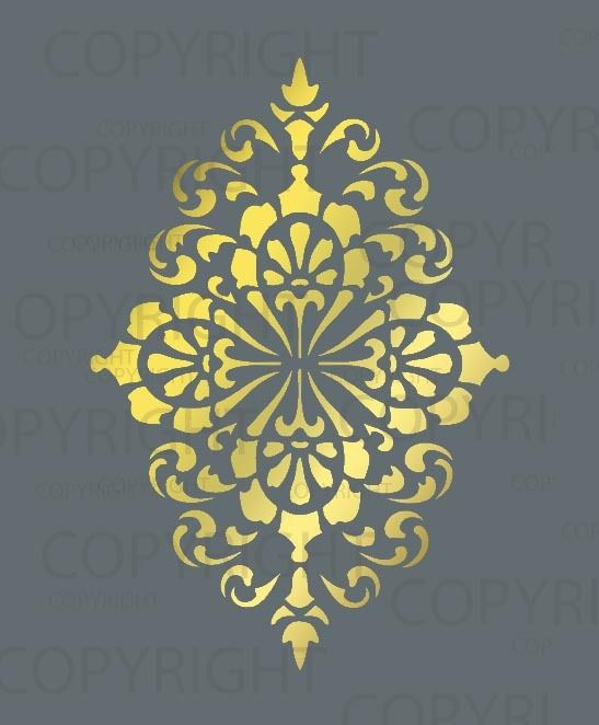 damask stencil 1015 wall stencil patternsdamask - Design Stencils For Walls