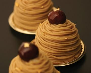 Mont blanc cake: Chestnut recipe for the beautiful Bonne Maman purée I just bought.