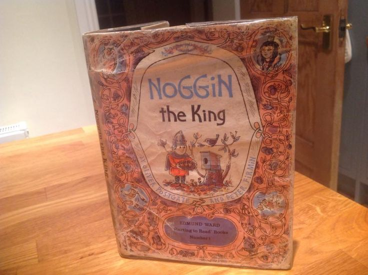 Today's favourite by The real vintage company - NOGGIN THE KING 1965 1st Edition with dust jacket, £35.  You need to be a book lover to appreciate this very rare and early Noggin Book.  It is Noggin The King, written by Oliver Postgate and Peter Firmin.  A Edmund Ward, Starting to Read Book, No. 1.