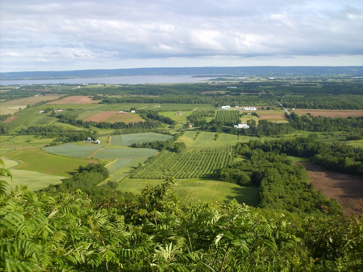 On a look off overlooking the valley in Nova Scotia
