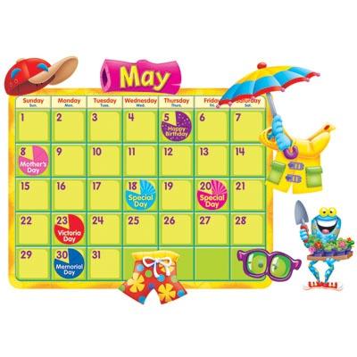 FROG-TASTIC CALENDAR BULLETIN BOARD SET  Make every year leap year with this cute calendar bulletin board set.