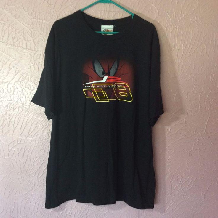 Mens T Shirt Dale Earnhardt Jr. Size XXL Black #tazmaniandevil #8 Nascar Racing  #WinnersCircle #dalejr #designsbym #ebay #shopping