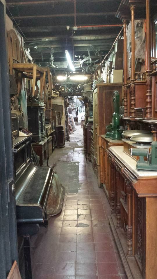 Inside of an antique store in Barrio Italia
