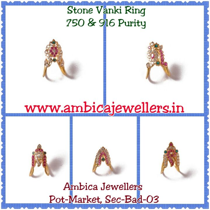 We Have Stone Vanki Rings From 2.500 Grams To 5.000 Grams In 750 & 916 Purity.