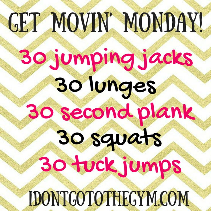 Get Movin' Monday Workout Challenge!