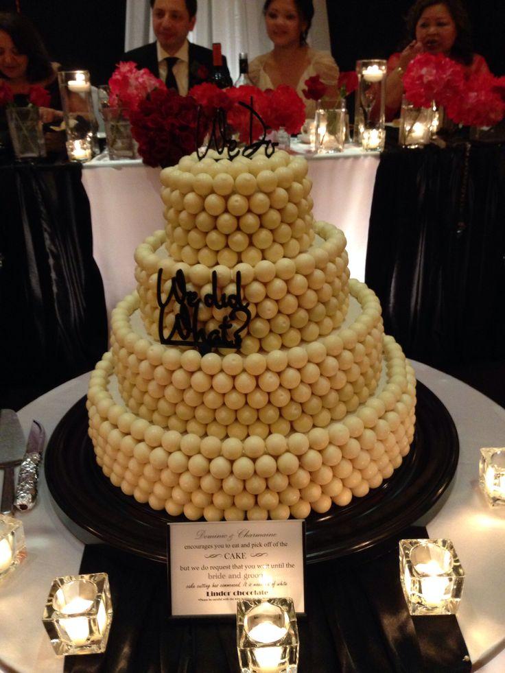 Lindor white chocolate wedding cake