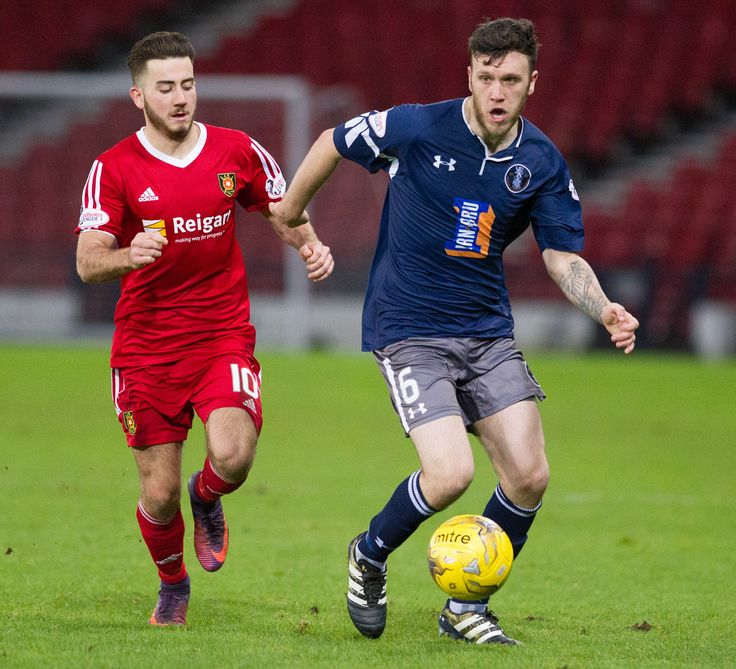 Queen's Park's Adam Cummins in action during the Ladbrokes League One game between Queen's Park and Albion Rovers