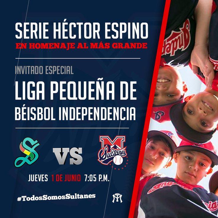 Hoy nuestros invitados de honor son los pequeñines de la Liga Pequeña de Béisbol Independencia, en la serie Héctor Espino. #TodosSomosSultanes