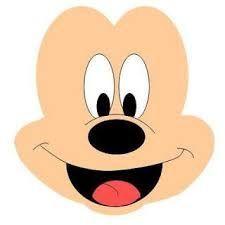 Resultado de imagen para moldes de mickey mouse en peluche