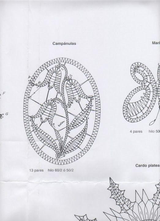 B.Bellon Motivos Encajes Bolillos - Animales y Flores – Marina – Webová alba Picasa