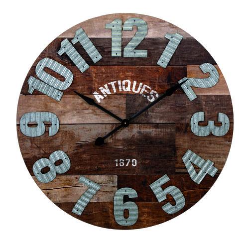 """Antiques Wall Clock 36.25""""""""d x 1.25"""""""""""